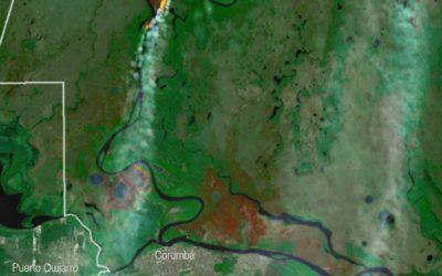 Incendios transfronterizos y dinámica del fuego en el Pantanal